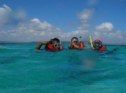Class field trip to Lime Cay – Coral ID!